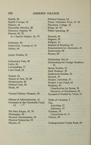 Amherst College Catalog 1933/1934