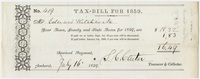 Edward Hitchcock receipt of payment to the town of Amherst, 1859
