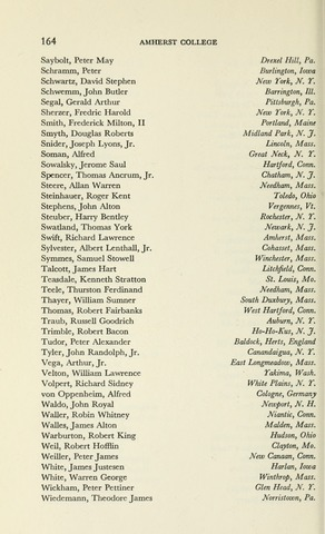 Amherst College Catalog 1955/1956