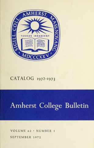 Amherst College Catalog 1972/1973