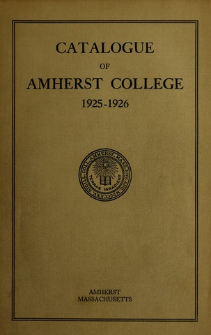 Amherst College Catalog 1925/1926