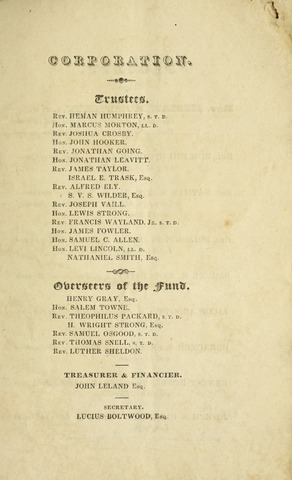 Amherst College Catalog 1828/1829
