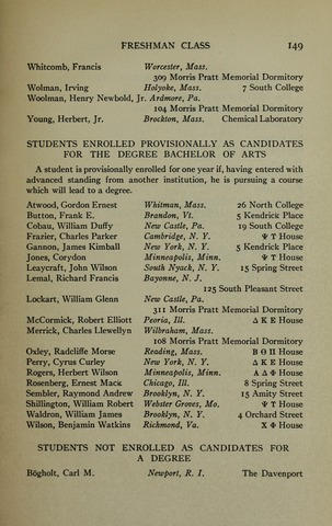 Amherst College Catalog 1921/1922