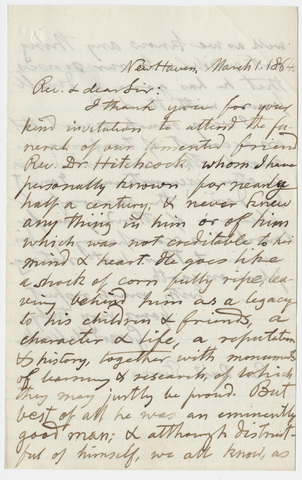 Gerard Hallock letter to William Augustus Stearns, 1864 March 1