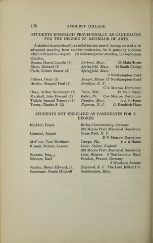 Amherst College Catalog 1932/1933