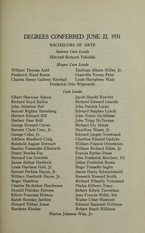 Amherst College Catalog 1931/1932