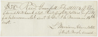 Edward Hitchcock receipt of payment to Lewis Merriam, 1854 February 21