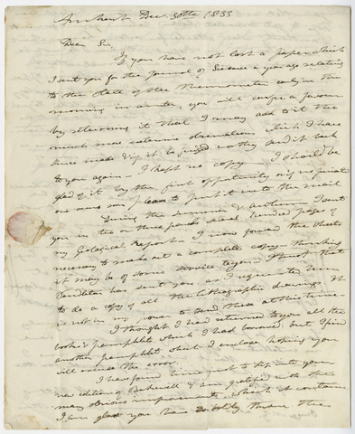 Edward Hitchcock letter to Benjamin Silliman, 1833 December 30