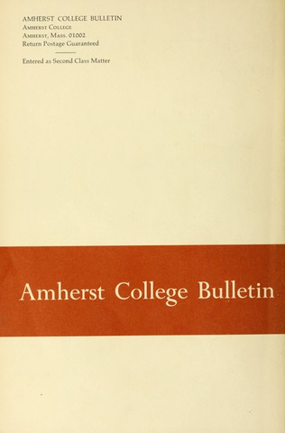 Amherst College Catalog 1968/1969
