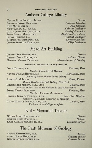 Amherst College Catalog 1962/1963