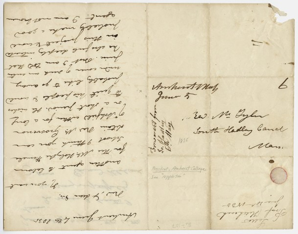 Edward Hitchcock letter to William S. Tyler, 1835 June 4