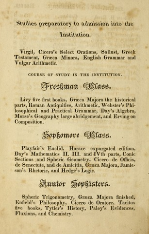 Amherst College Catalog 1822/1823