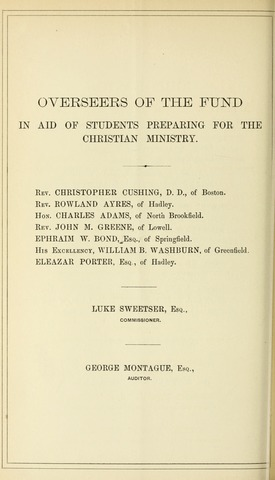 Amherst College Catalog 1873/1874