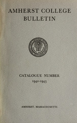 Amherst College Catalog 1942/1943