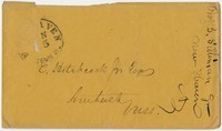 Benjamin Silliman envelope to Edward Hitchcock, Jr.