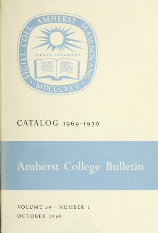 Amherst College Catalog 1969/1970