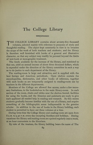 Amherst College Catalog 1901/1902