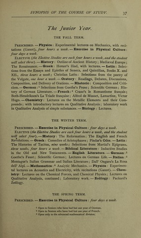 Amherst College Catalog 1890/1891