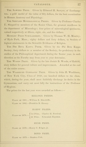 Amherst College Catalog 1879/1880