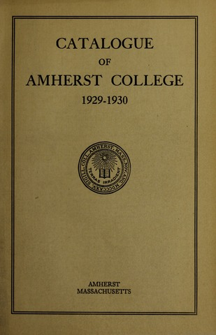 Amherst College Catalog 1929/1930