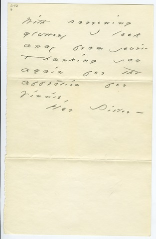Emily Dickinson letter to Harriet Austin Dickinson