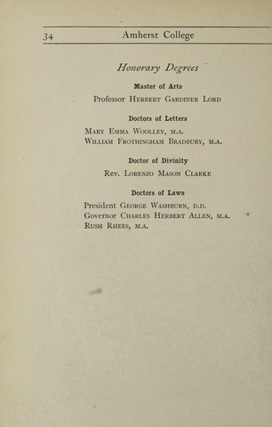 Amherst College Catalog 1900/1901