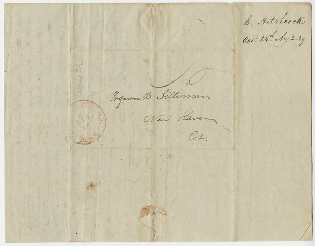 Edward Hitchcock letter to Benjamin Silliman, 1829 August 17
