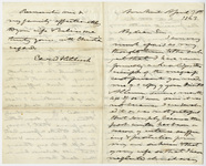 Edward Hitchcock letter to Henry J. Van-Lennep, 1863 April 30