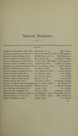 Amherst College Catalog 1894/1895