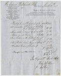 Edward Hitchcock receipt of payment to Wiley & Putnam, 1847 March 10