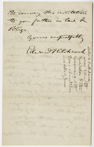Edward Hitchcock letter to Benjamin Silliman, 1856 March 24