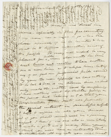 Edward Hitchcock letter to Benjamin Silliman, 1835 July 30