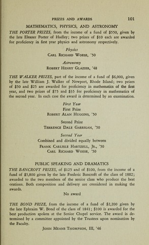 Amherst College Catalog 1947/1948