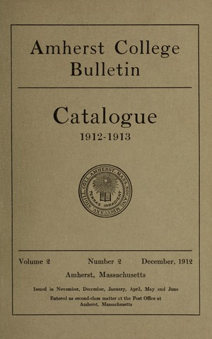 Amherst College Catalog 1912/1913