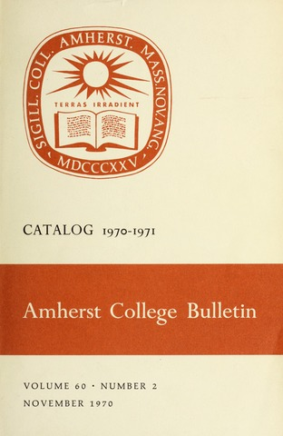 Amherst College Catalog 1970/1971