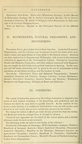 Amherst College Catalog 1854/1855