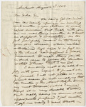 Edward Hitchcock letter to Moses Miller, 1843 August 2