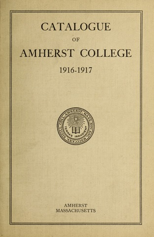Amherst College Catalog 1916/1917