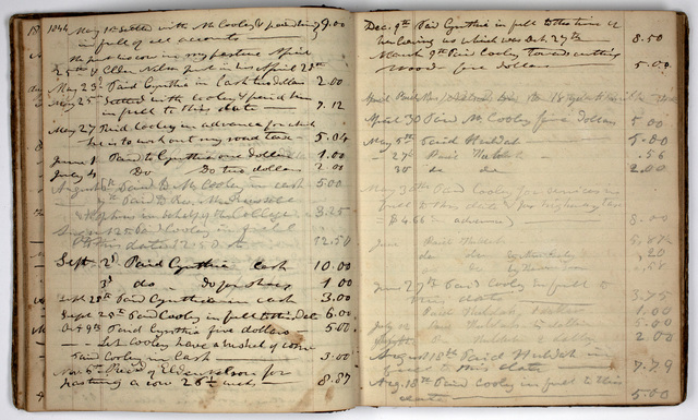 Edward Hitchcock account book, 1828-1864