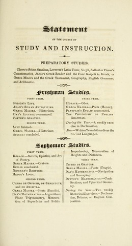 Amherst College Catalog 1833/1834