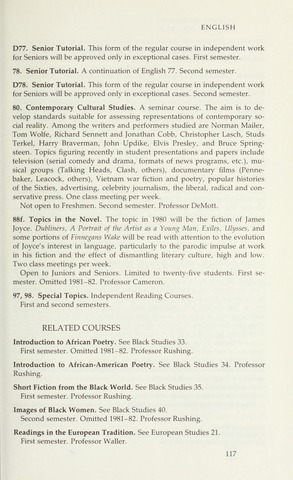 Amherst College Catalog 1981/1982