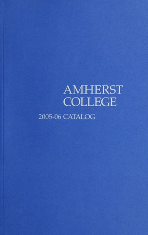 Amherst College Catalog 2005/2006
