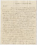 Benjamin Silliman letter to Edward Hitchcock, 1832 March 8