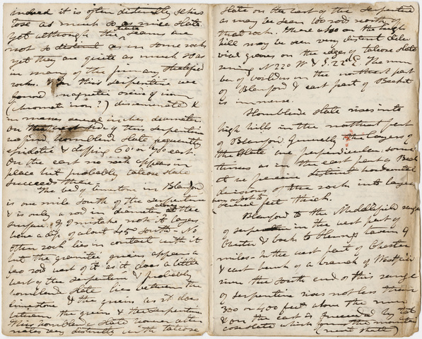 Edward Hitchcock geological survey notebook, 1833 May