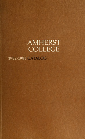 Amherst College Catalog 1982/1983