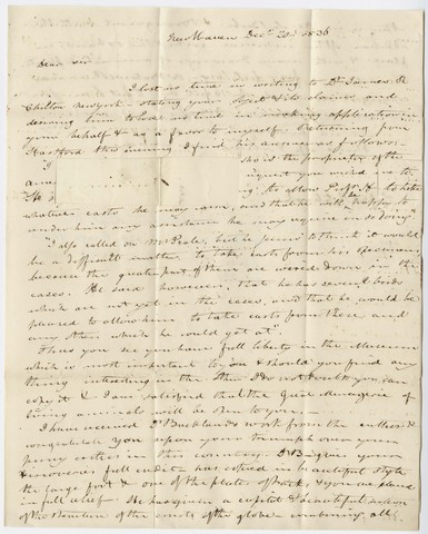 Benjamin Silliman letter to Edward Hitchcock, 1836 December 20