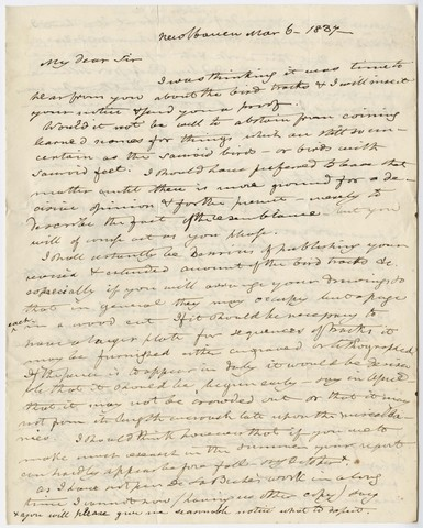 Benjamin Silliman letter to Edward Hitchcock, 1837 March 6