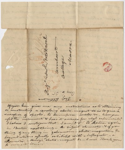 Benjamin Silliman letter to Edward Hitchcock, 1835 August 6