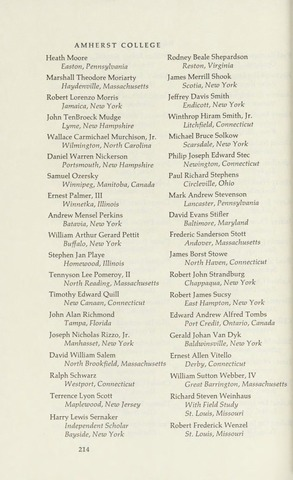 Amherst College Catalog 1971/1972
