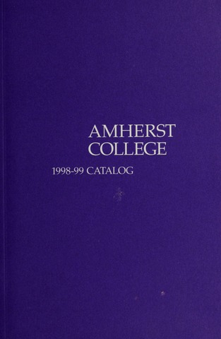 Amherst College Catalog 1998/1999